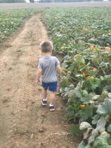 little boy in patch