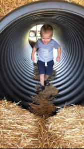 straw tower tunnel